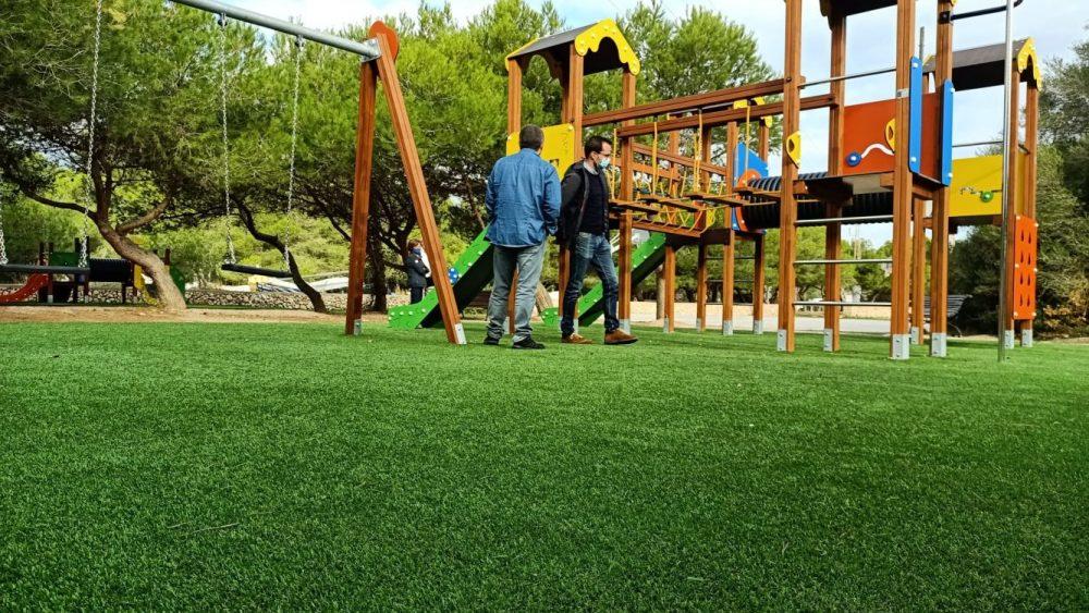 Nuevo aspecto del parque (Fotos: Ajuntament de Maó)