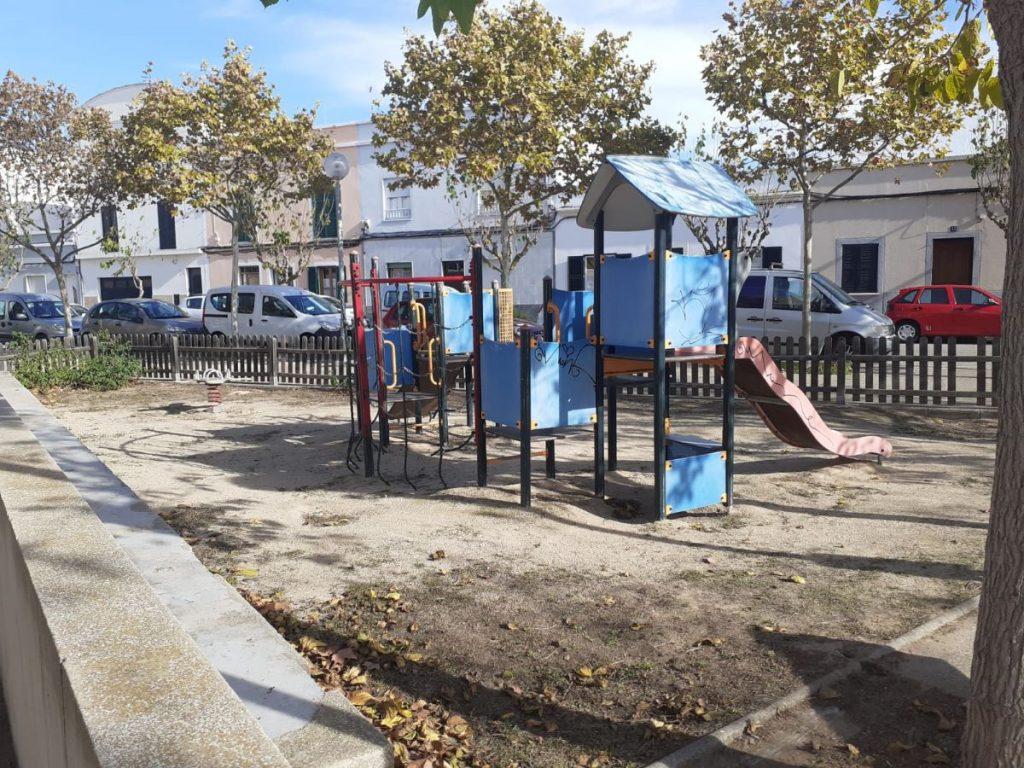 Parque de la plaza Princesa Joana  de Ciutadella
