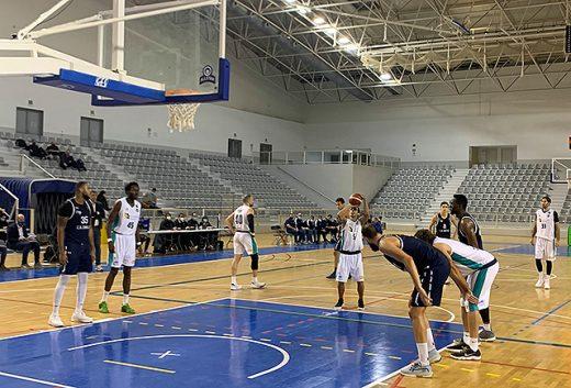 Pitu Jiménez en un tiro libre durante el segundo cuarto. Foto: Hestia Menorca