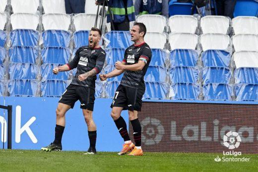 Sergi Enrich celebra su gol (Foto: La Liga)