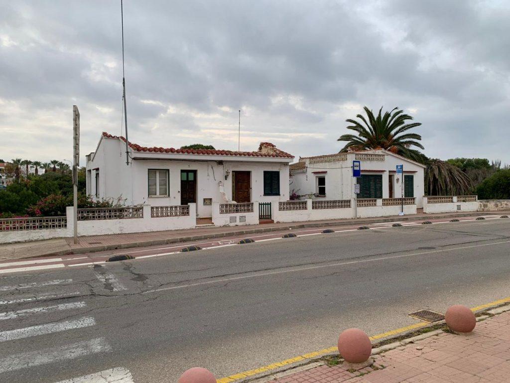 Imagen de las casas que serán derribadas (Foto: Ajuntament de Ciutadella)