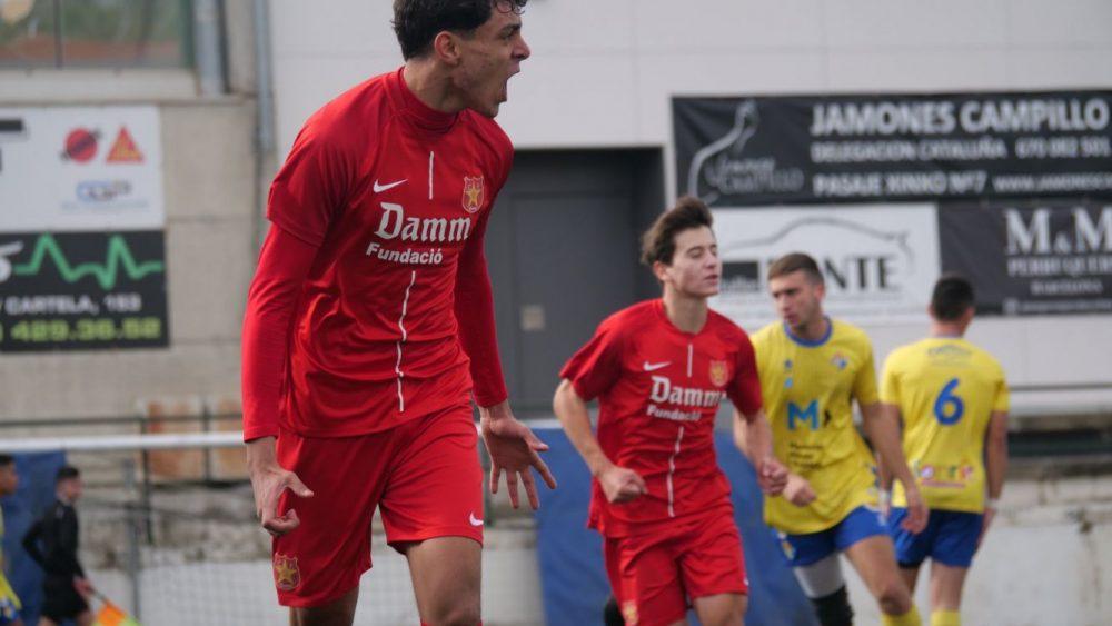 Celebración de un gol de la Damm (Fotos: CF Damm)