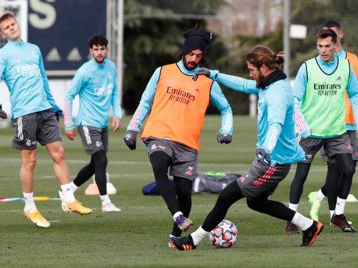 (Fotos) Xavi Sintes, con el primer equipo del Real Madrid