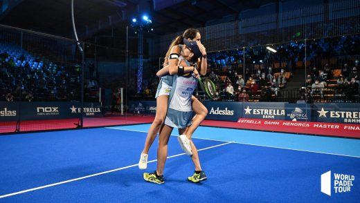 Triay y Sainz celebran la victoria (Foto: World Padel Tour)