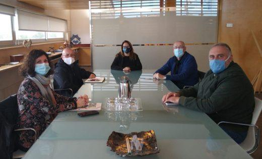 Imagen de la reunión de esta mañana en el Consell de Menorca