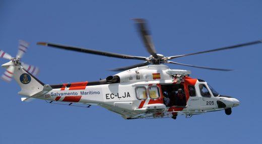 Imagen del Helimer 205 de Salvamento Marítimo.
