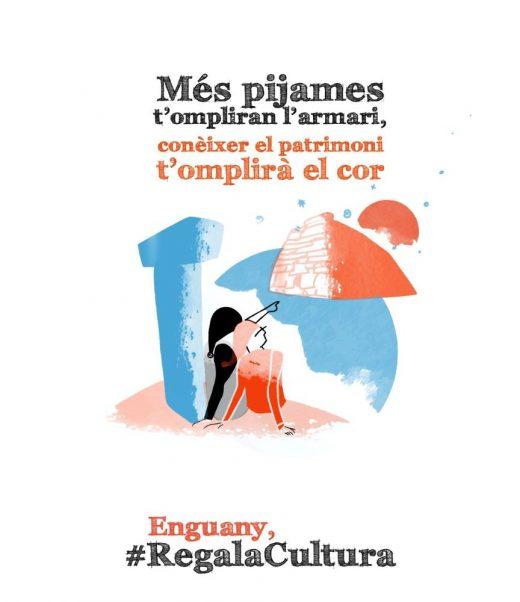Imagen del cartel editado por el Consell de Menorca