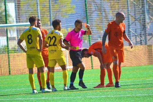 Santi Mascaró, en un partido de Tercera. (1)