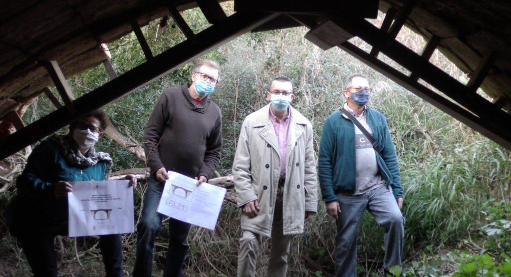 Visita de las autoridades al puente (Foto: Consell Insular)