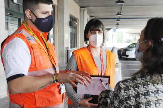 Control sanitario en el Aeropuerto de Menorca.