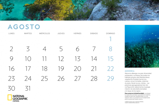 Captura del calendario de 2021.