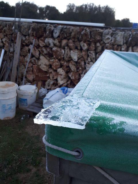 Imagen de una de las placas de hielo (Fotos: Luis Miguel Pons Pons)