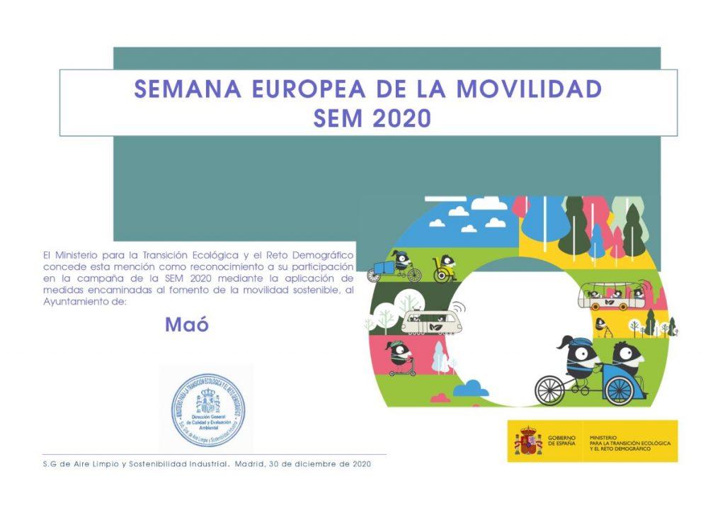 Mención de reconocimiento del Ministerio para la Transición Ecológica y el Reto Demográfico