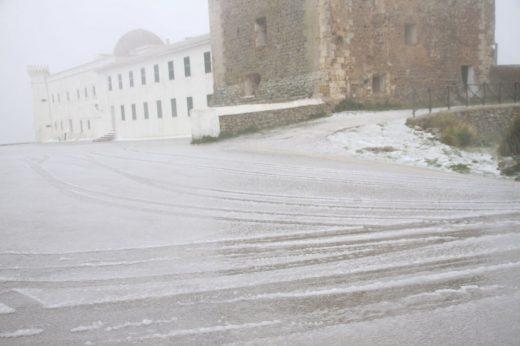Nieve en Monte Toro en marzo de 2018 (Foto: Meteo Menorca)