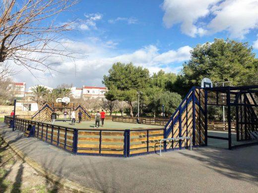 Nueva imagen de la pista multifuncional de Es Castell