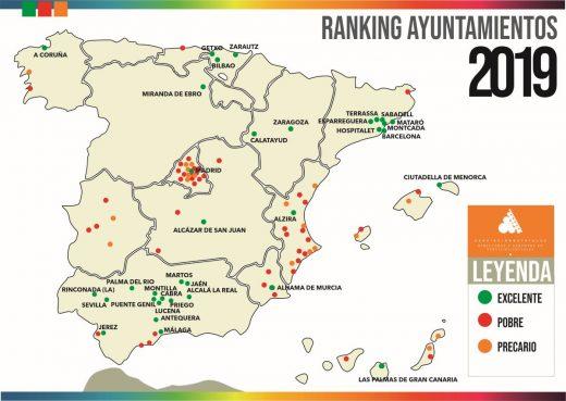 Ranking de ayuntamientos según la calidad de sus servicios sociales