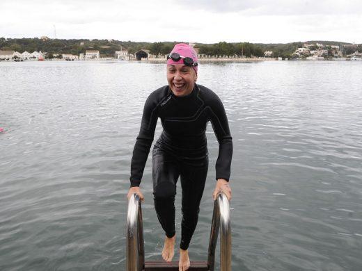 (Galería de fotos) Nadar para combatir el frío