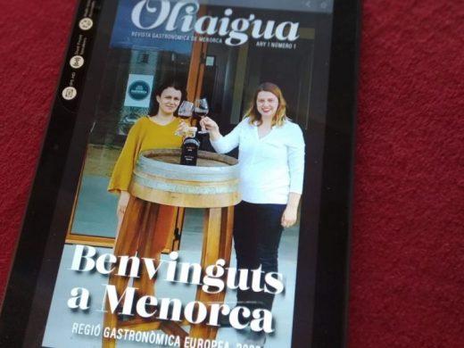 """(Vídeo y fotos) """"Oliaigua"""", la proyección digital de la gastronomía de Menorca"""