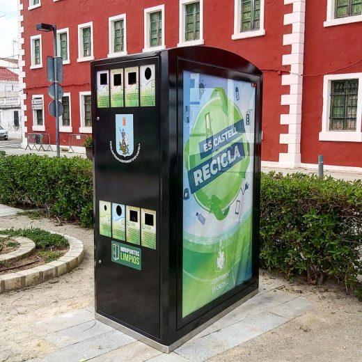 Estas máquinas permiten cambiar los residuos a reciclar en función de las necesidades del municipio