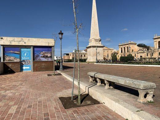 La instalación de terrazas en la plaza estaba prohibida