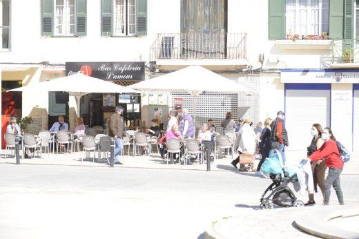 Cafetería en el centro de Maó (Foto: Tolo Mercadal)