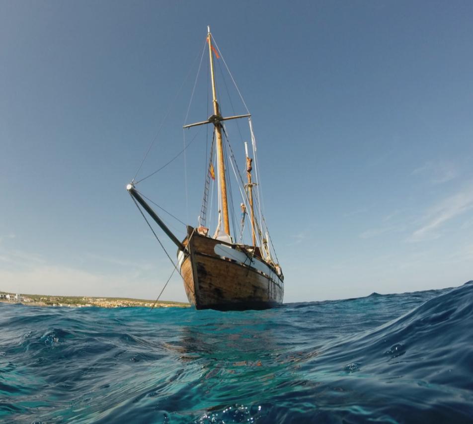 El premio es navegar en este barco