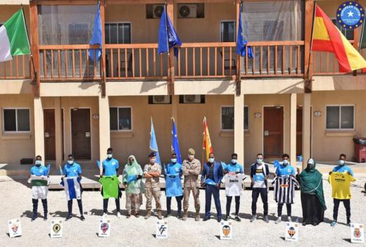 En el recinto del destacamento en Mogadiscio