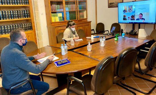 El alcalde de Alaior, José Luis Benejam, en la reunión telemática con la Conselleria de Asuntos Sociales