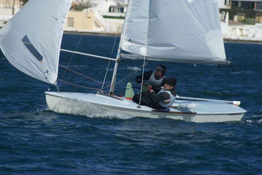 Jordi Triay y Cristian Vidal, en la regata.
