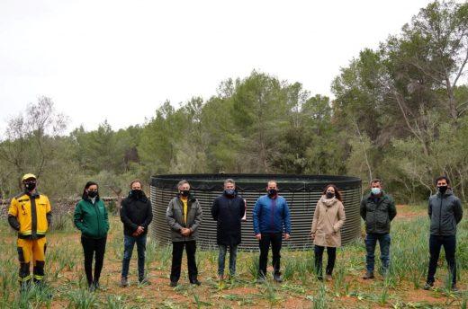 Presentación esta mañana de un nuevo depósito de agua en Mallorca