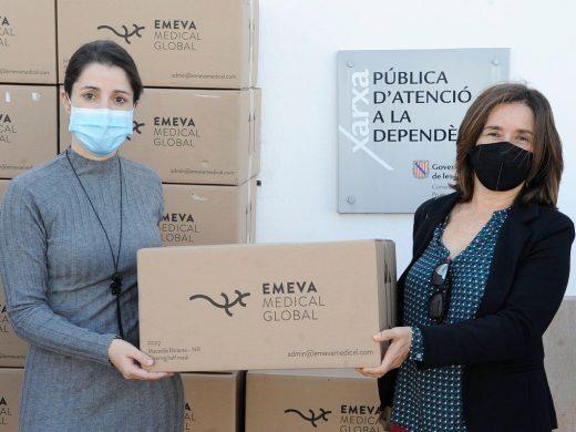 Emeva Medical Global y Fundación Hestia donan 10.000 mascarillas a los geriátricos de Menorca