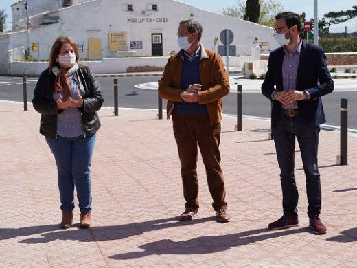 (Fotos y vídeo) Una nueva rotonda en Sant Climent