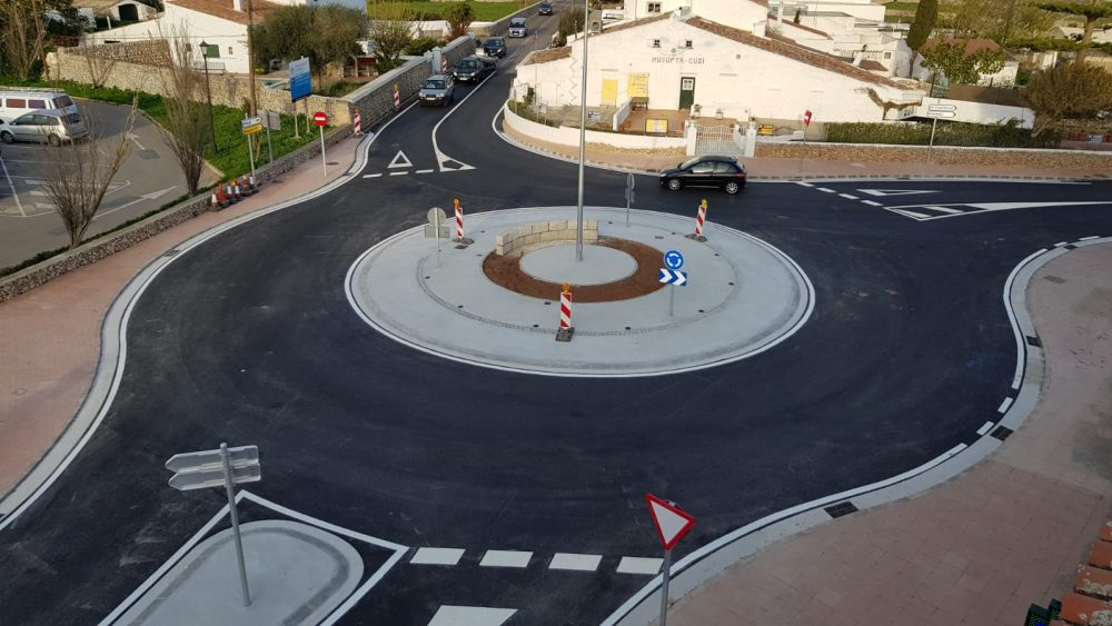 Imagen de la nueva rotonda.