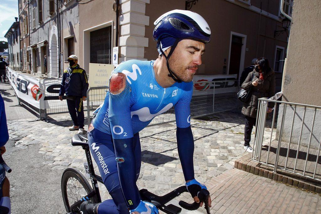 Albert Torres, tras acabar la etapa (Foto: Bettini Photo - Movistar)