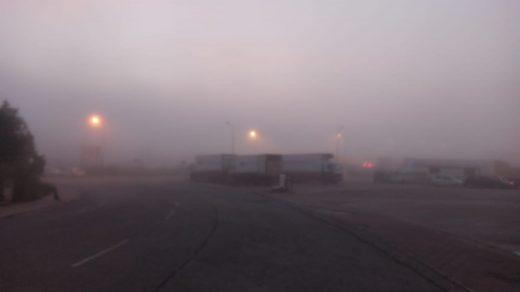Niebla en Alaior esta mañana (Foto: J.Haro)