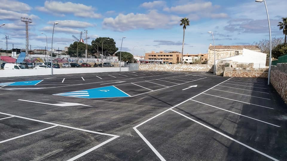 Imagen del nuevo aparcamiento.