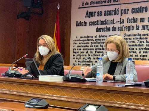 Susana Mora, durante su intervención.
