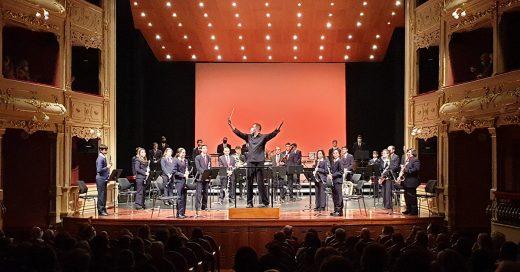 Una actuación de la Banda de Música de Maó.