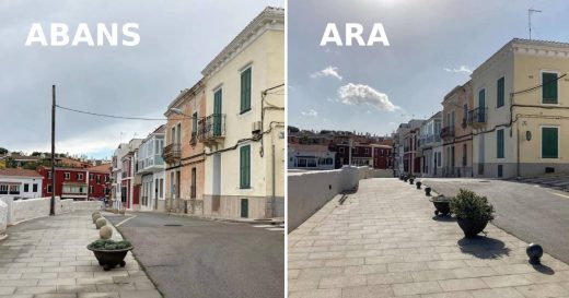 La retirada de los postes mejora la estética de la zona