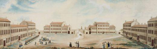 Imagen antigua de Es Castell que ilustra el cartel de los actos