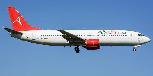 Avión de Alba Star.