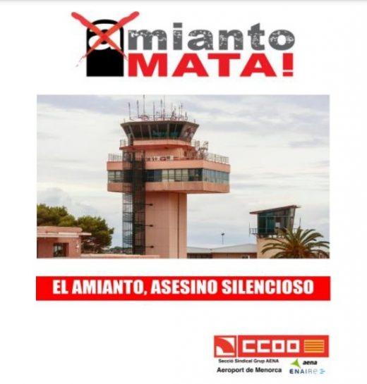 Cartel de CCOO en Menorca