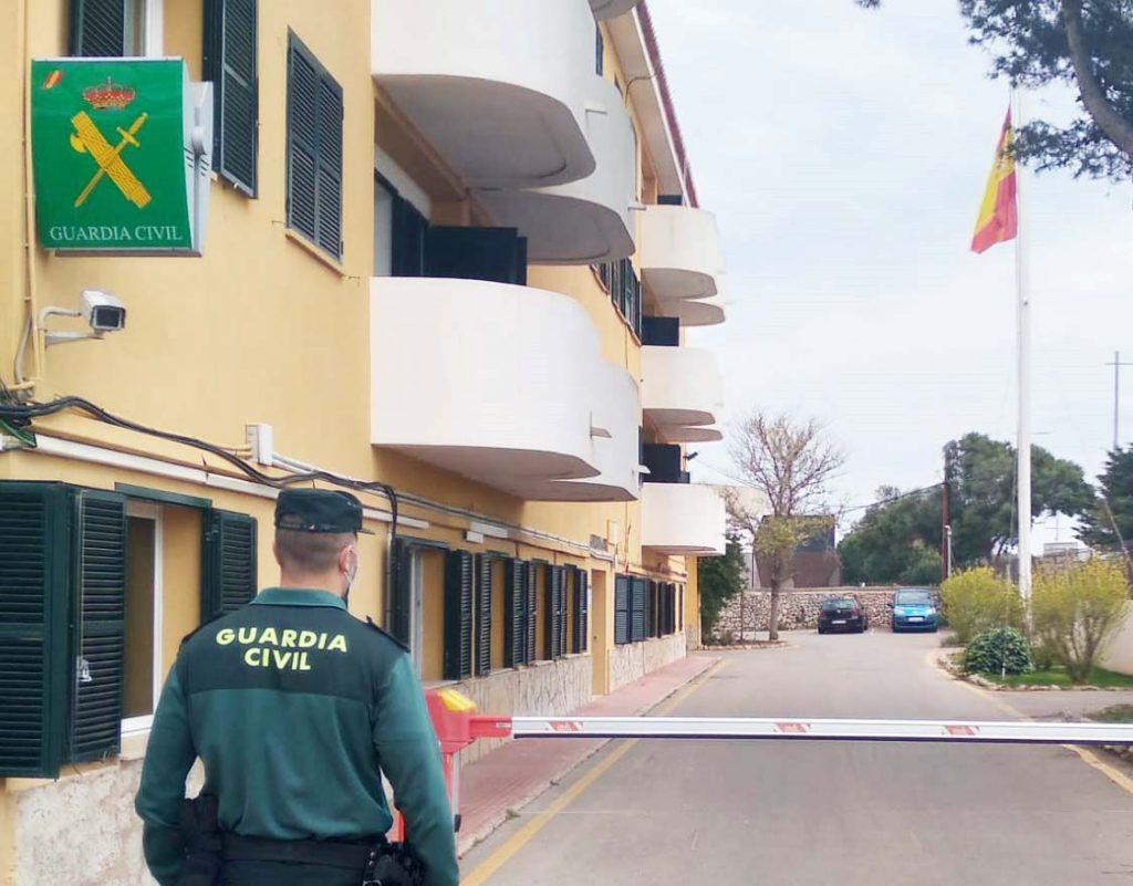 Cuartel de la Guardia Civil en la carretera de Maó a Sant Lluís
