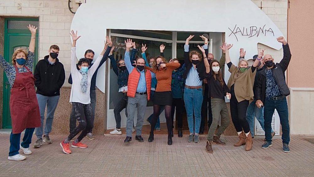 Alegría en la presentación de la nueva sede (Fotos: Antxón Castresana)