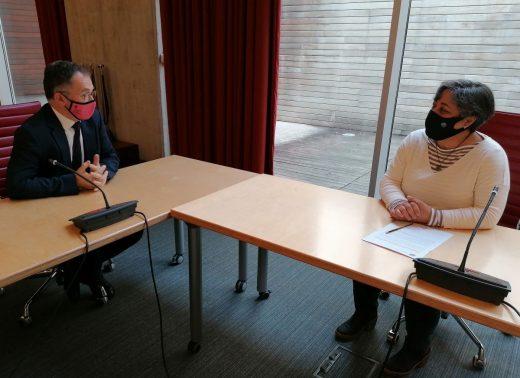 Imagen de la reunión celebrada esta mañana en la sede del Consell de Menorca