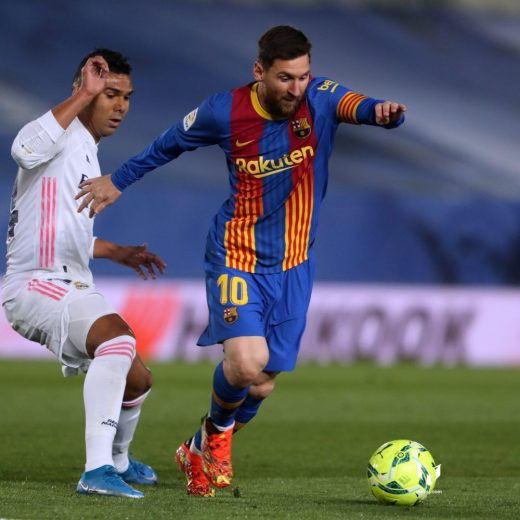 Messi ante Casemiro.