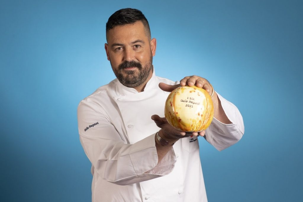 """David de Coca, cocinero de """"Sa Llagosta""""."""
