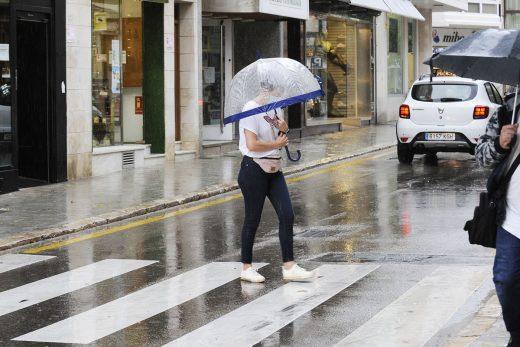 Lluvia persistente.
