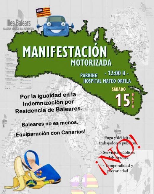 Cartel de la convocatoria de manifestación
