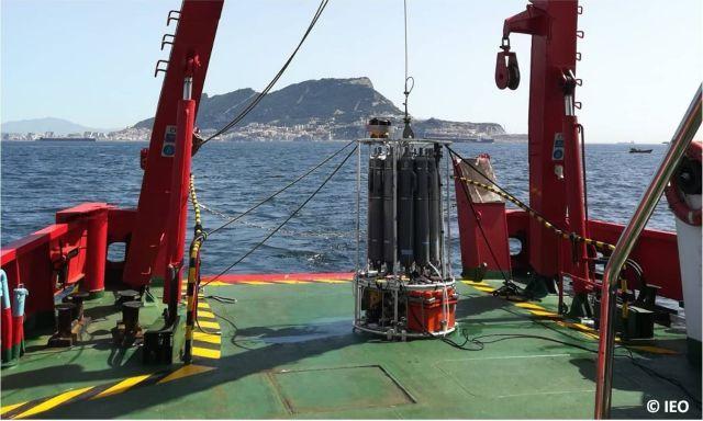 Muestreo a bordo del García del CID Foto: RADMED/ESMARES-IEO